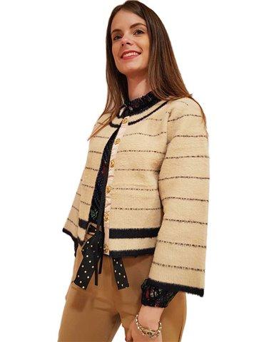Fracomina giacca nera corta Brittany