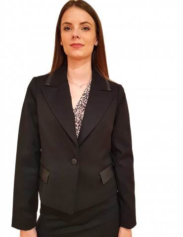 Fracomina Brittany short black jacket