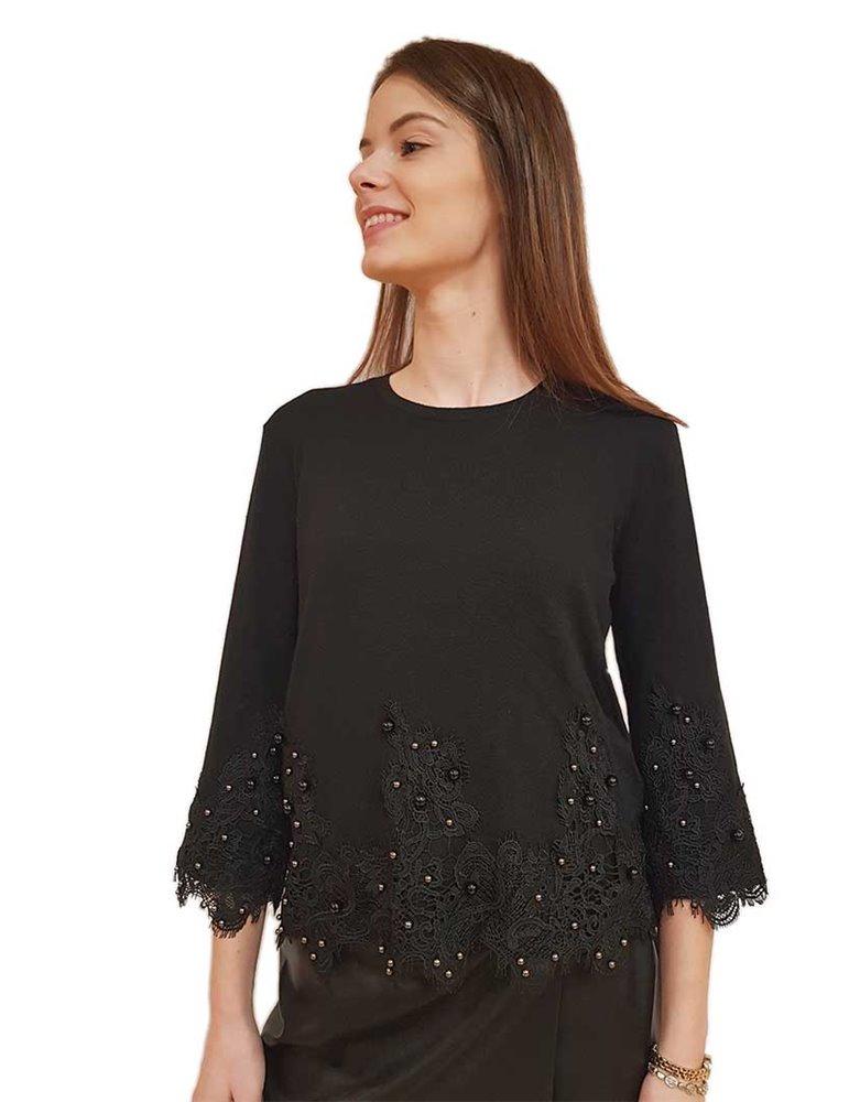 Felpa Levi's nera cappuccio e ricamo 743180026 LEVI'S FELPE DONNA -40%