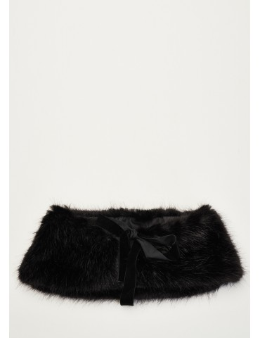 Black fur collar Gaudi