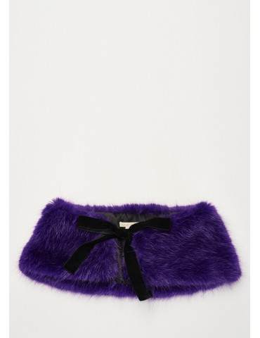 Gaudi fake collar purple fur