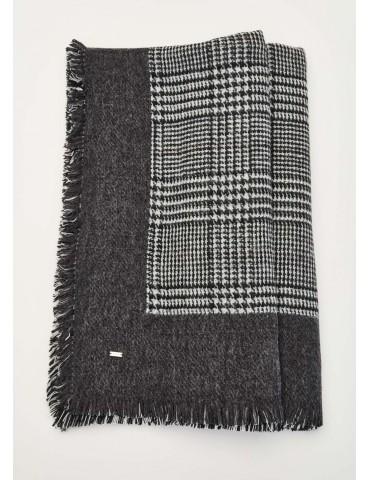 Gaudi sciarpa Principe di Galles grigia e nera