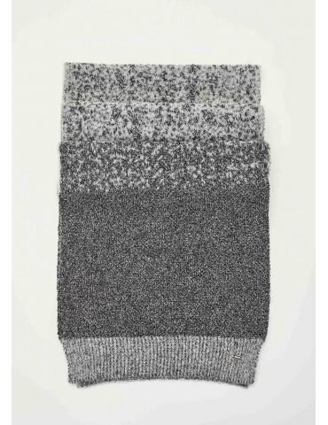 Gaudi sciarpa jacquard grigia argento e nera