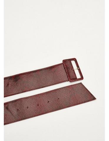 Gaudi cintura in pelle pitonata rossa