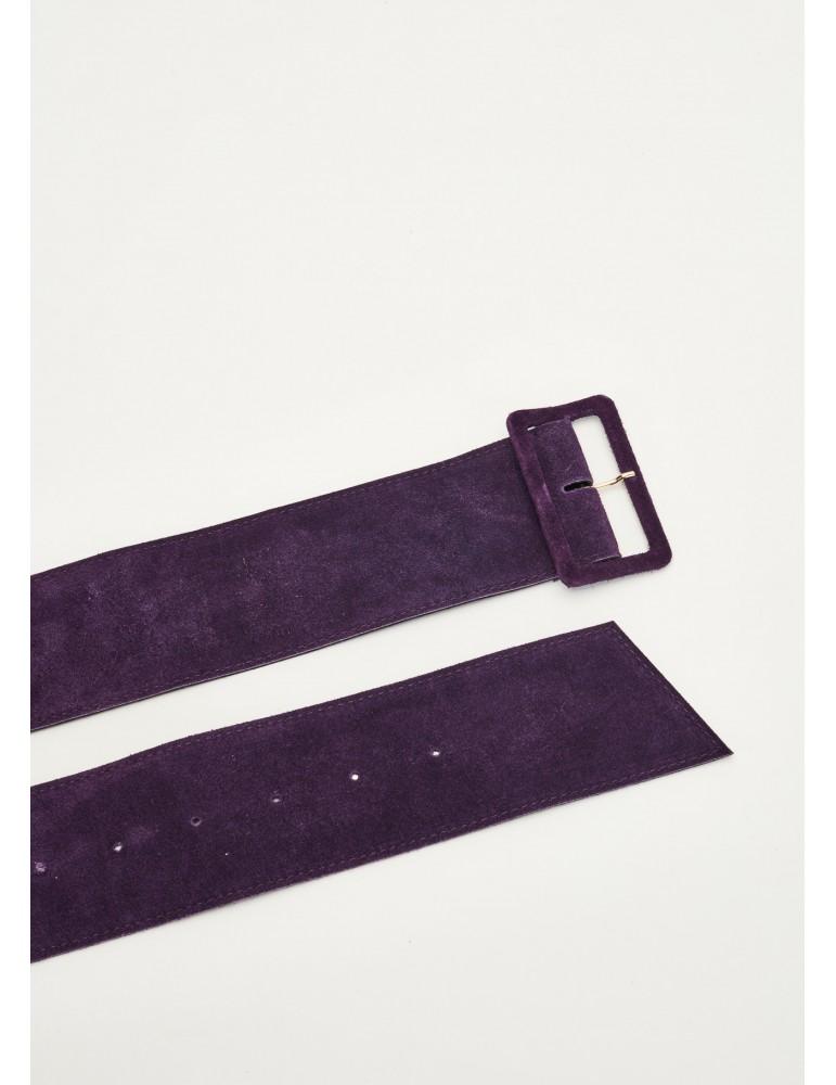 Gaudi cintura in pelle scamosciata viola 921fd900022602 GAUDI BORSE E CINTURE DONNA product_reduction_percent