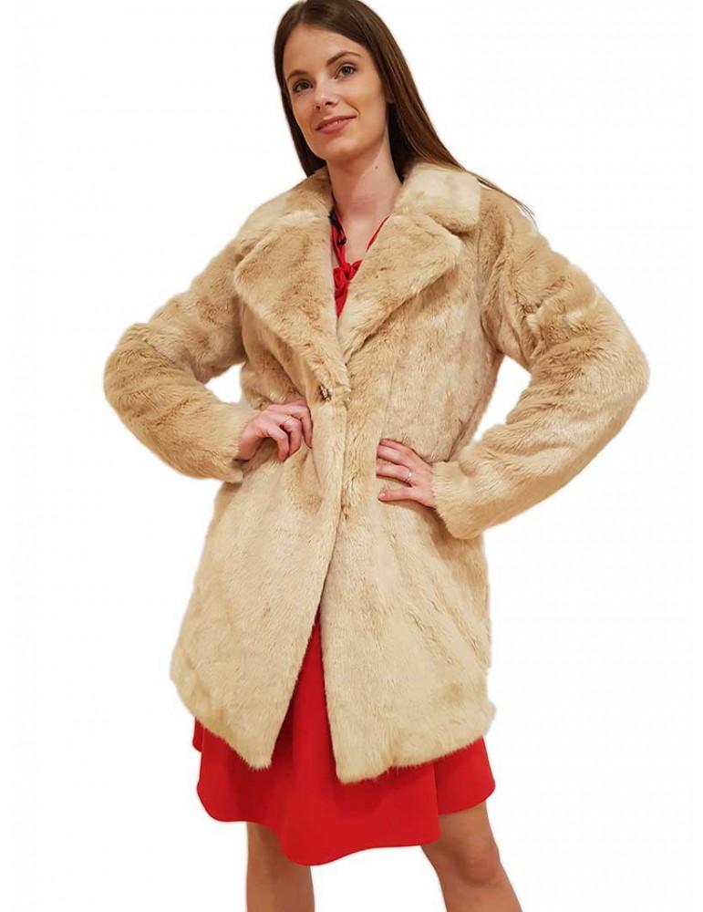 Cappotto effetto pelliccia Gaudi beige