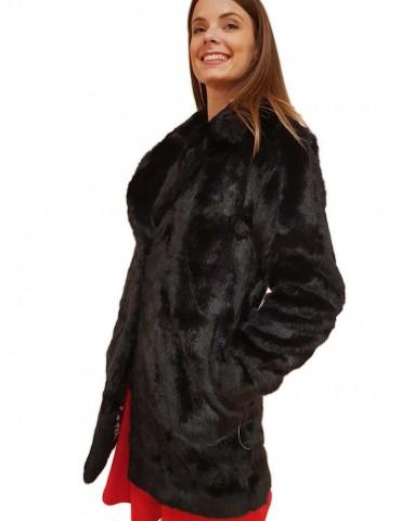 Cappotto pelliccia Gaudi nero
