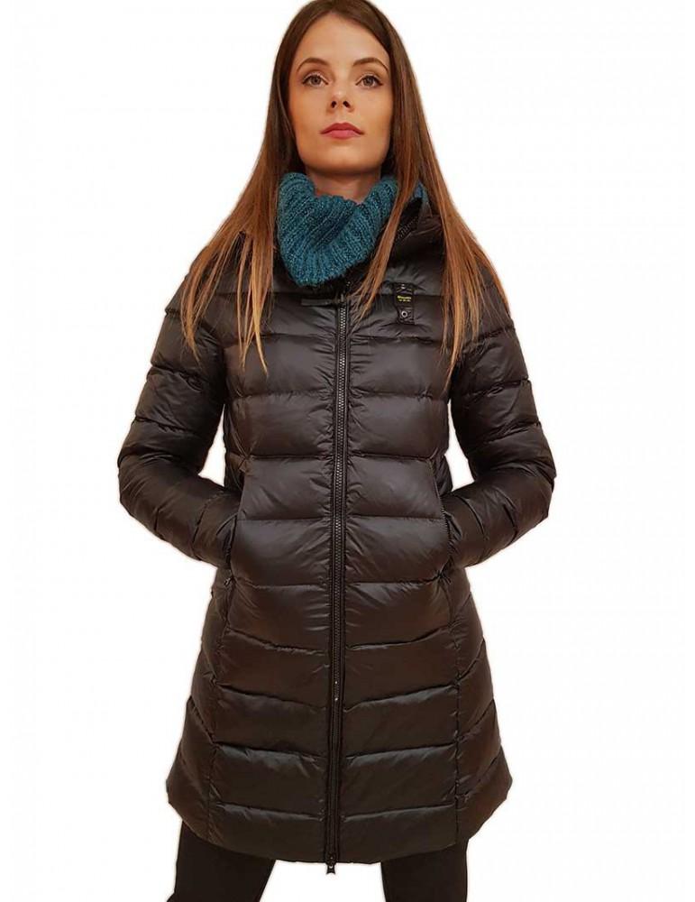 Blauer piumino lungo donna nero con cappuccio George 19wbldk03009005050999rs BLAUER USA GIUBBINI E PIUMINI DONNA product_redu...