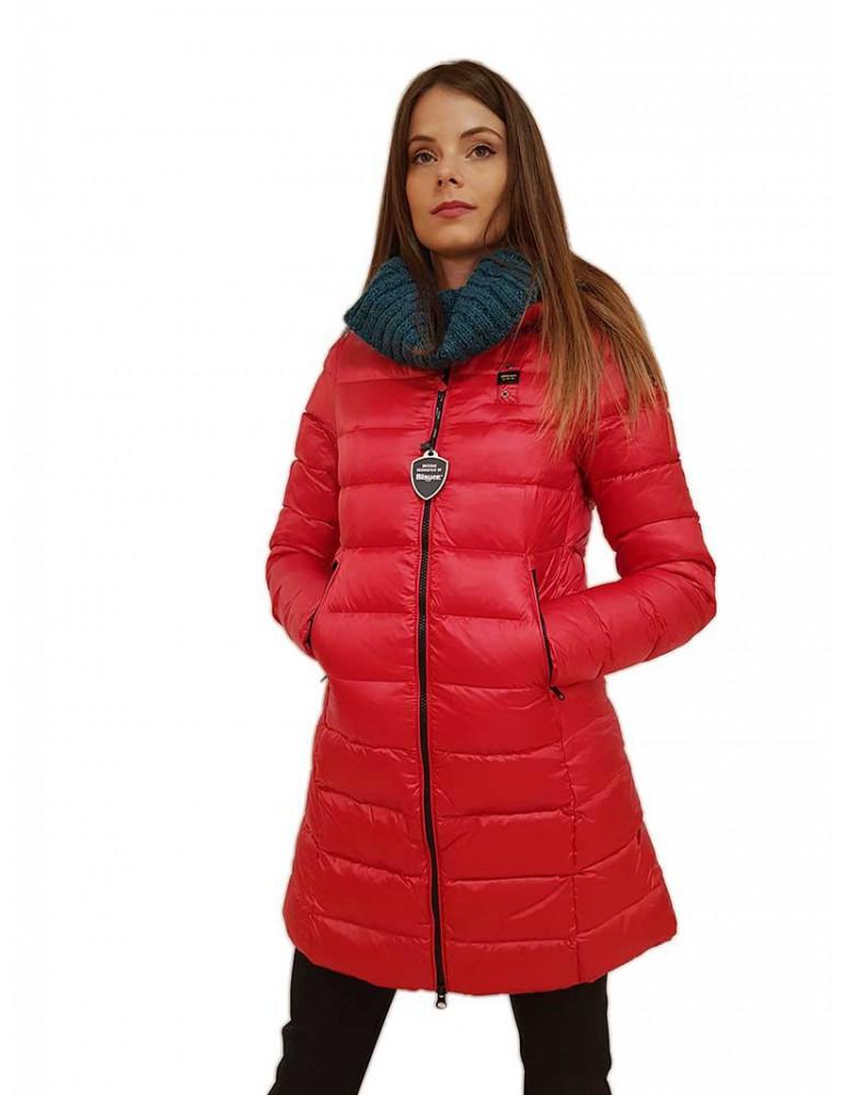 Blauer piumino lungo rosso con cappuccio George 19wbldk03009005050551sl BLAUER USA GIUBBINI E PIUMINI DONNA product_reduction...