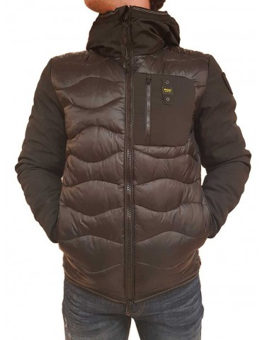 Blauer black down jacket with Webb hood