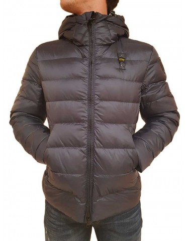 Blauer blue down jacket with hood Mills