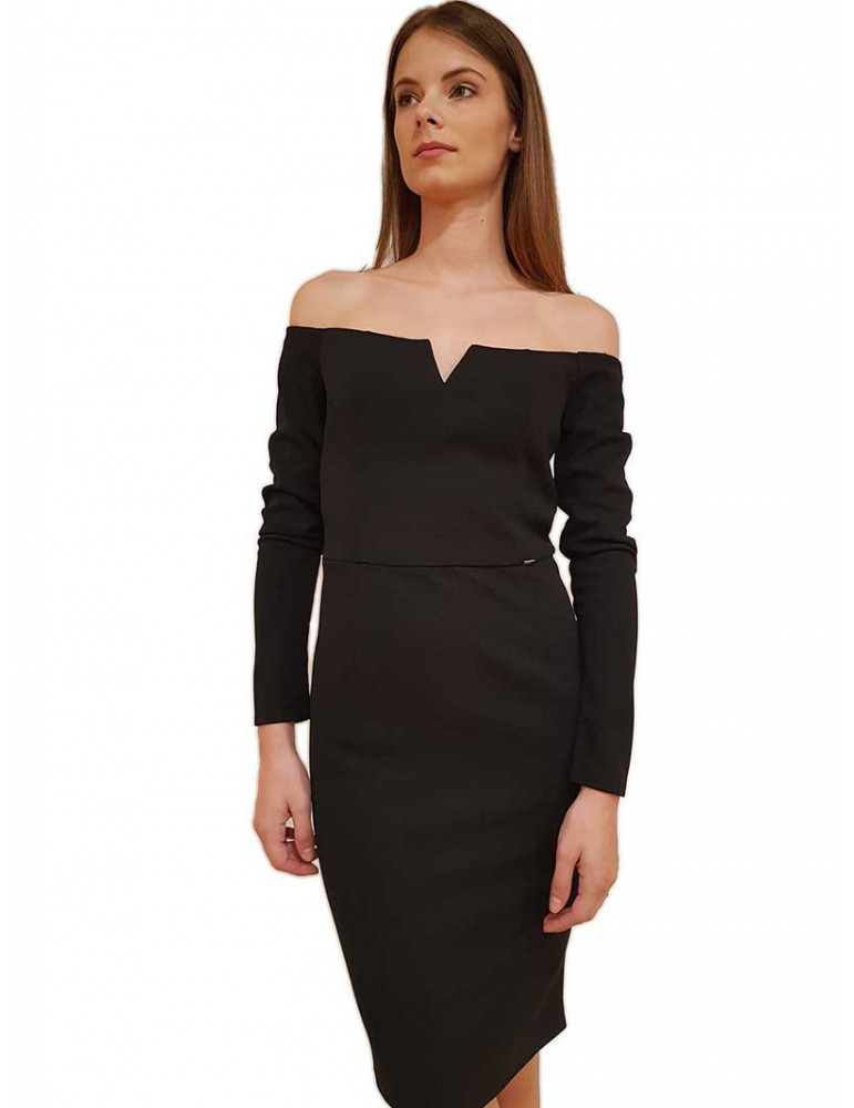 Gaudi abito tubino nero con zip off the shoulder 921fd150262001 GAUDI ABITI DONNA product_reduction_percent