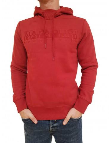 Napapijri felpa Berber rossa con cappuccio