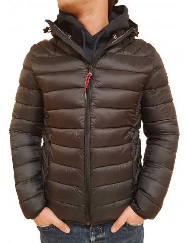 Down jacket Napapijri Aerons black hood