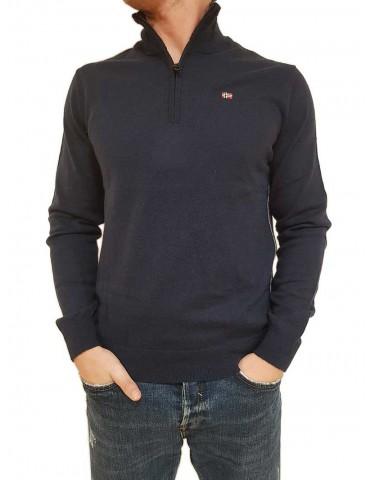 Damavand Half blue half-neck zip Napapijri jersey
