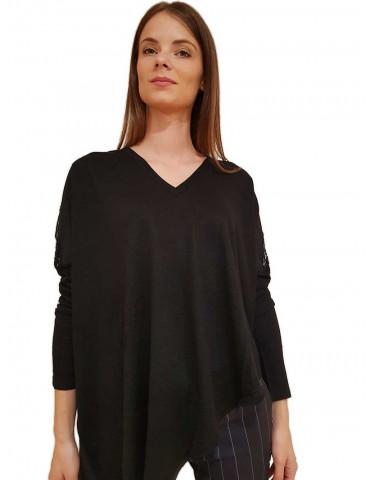 Gaudi maglia nera scollo a v