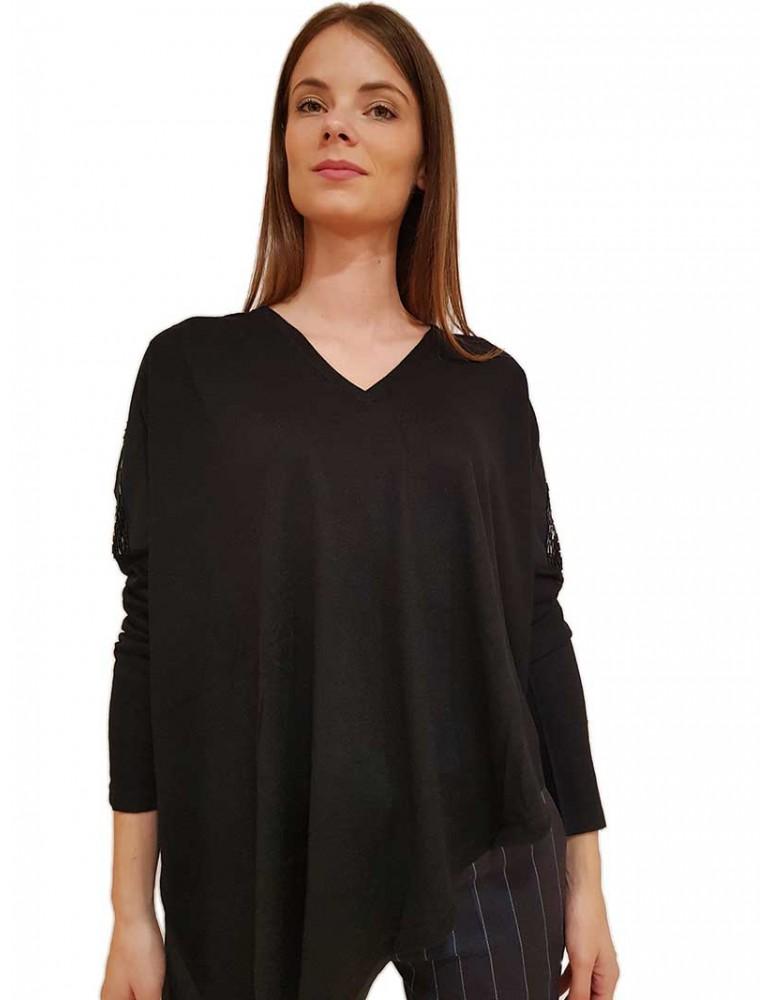 Gaudi maglia nera scollo a v 921fd530232001 GAUDI MAGLIE DONNA product_reduction_percent