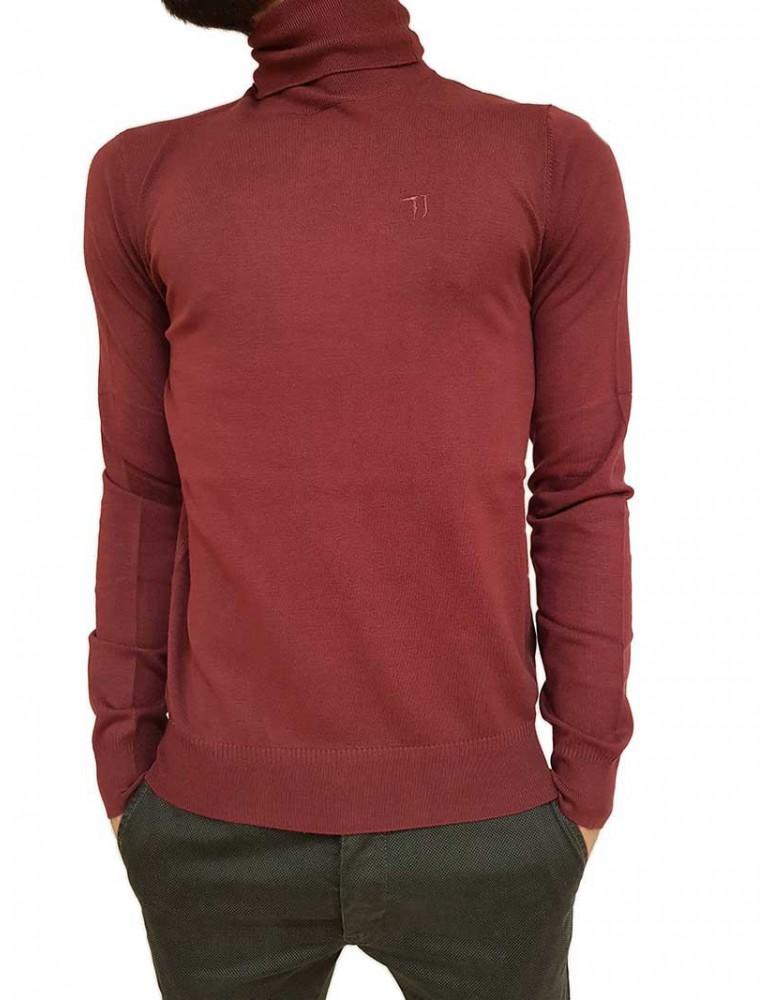 Trussardi maglia a collo alto bordeaux 52m00233-0f000433r290 TRUSSARDI JEANS MAGLIE UOMO product_reduction_percent