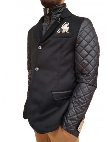 Blue down jacket Roberto P Luxury