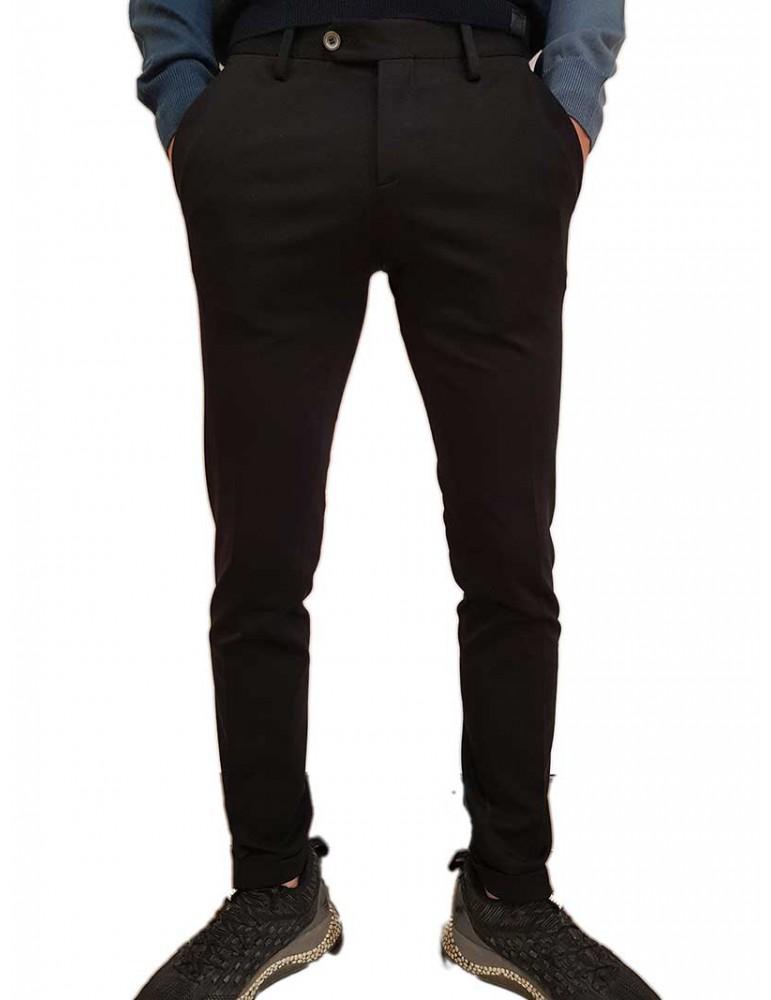 Roberto P Luxury pantalone skinny nero punto Milano pd-1mas5 ROBERTO P LUXURY PANTALONI UOMO product_reduction_percent