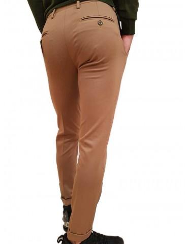 Roberto P Luxury pantalone skinny alla caviglia cammello
