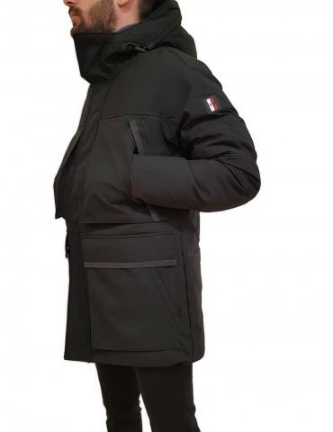 Parka Tommy Hilfiger black hooded
