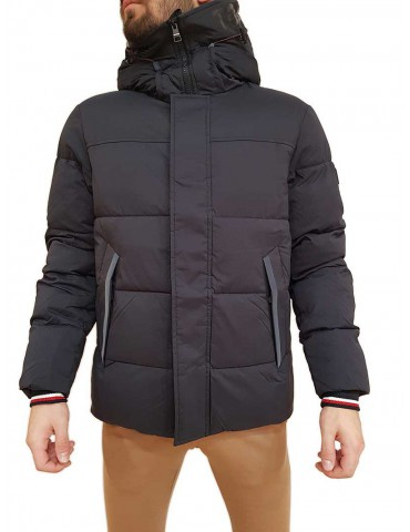 Tommy Hilfiger blue bomber jacket with hood