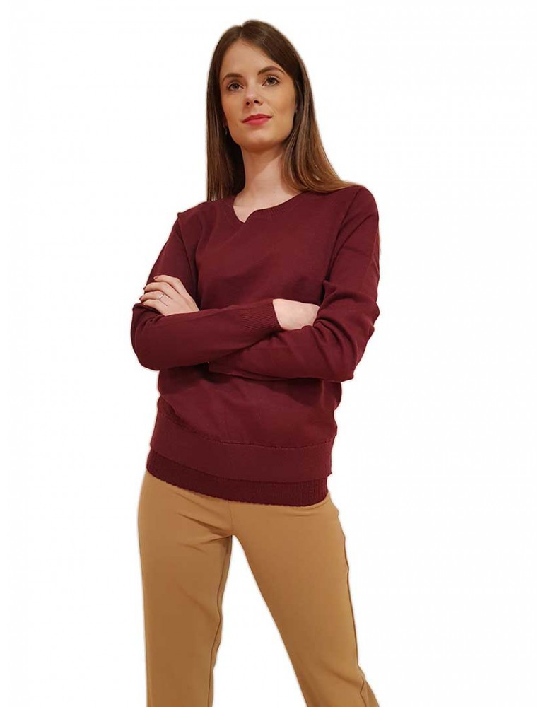 Fracomina maglia girocollo bordeaux fr19fm824087 FRACOMINA MAGLIE DONNA product_reduction_percent