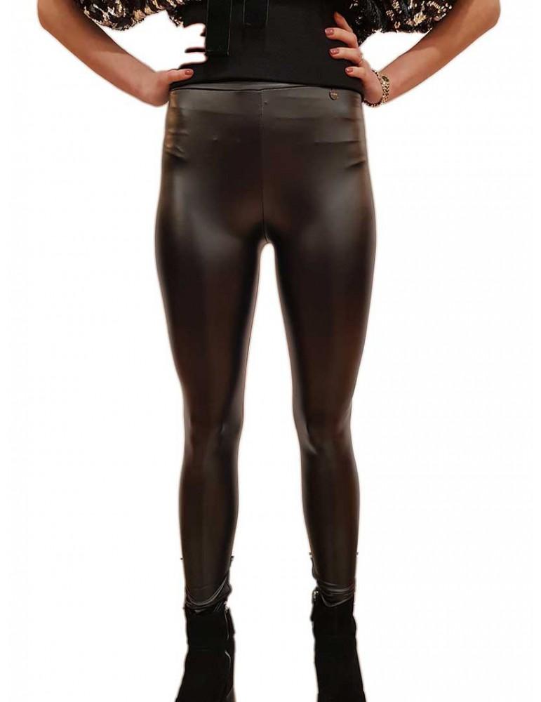 Leggings Fracomina nero ecopelle fr19fm565053 FRACOMINA PANTALONI DONNA product_reduction_percent