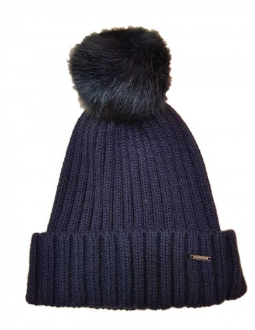 Fracomina cap with blue pom pom