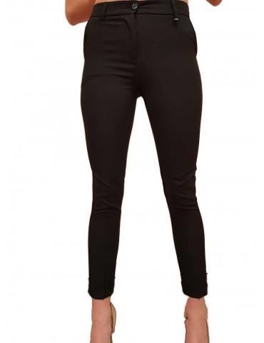 Fracomina pantalone nero chinos elegante