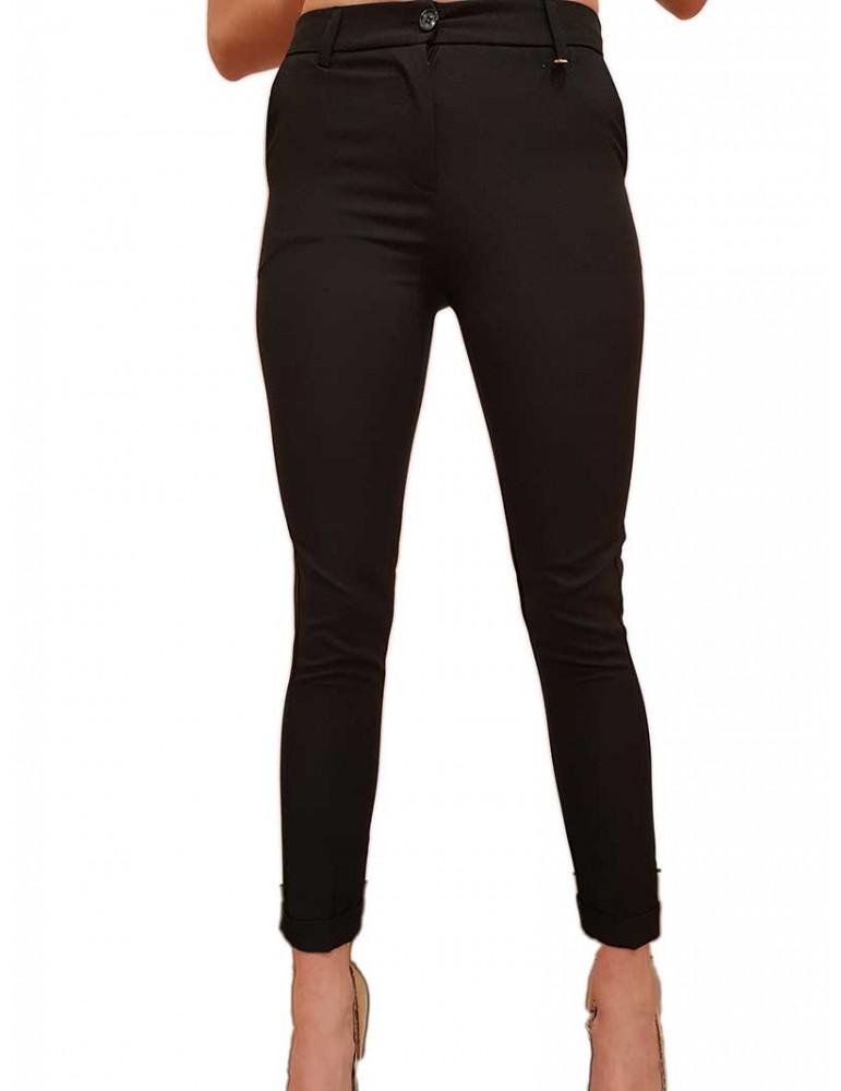 Fracomina pantalone nero chinos elegante fr20sp675053 FRACOMINA PANTALONI DONNA product_reduction_percent