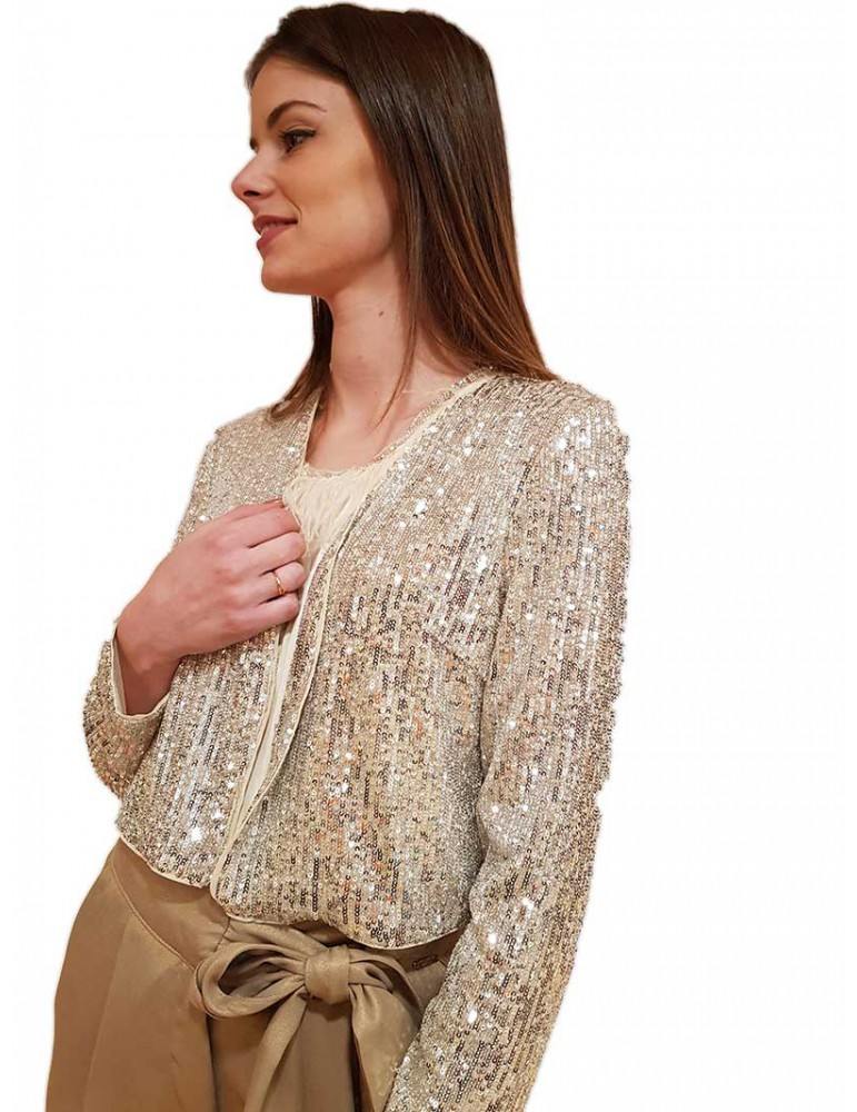 Fracomina coprispalle oro paillettes  fr20sp698231 FRACOMINA MAGLIE DONNA product_reduction_percent