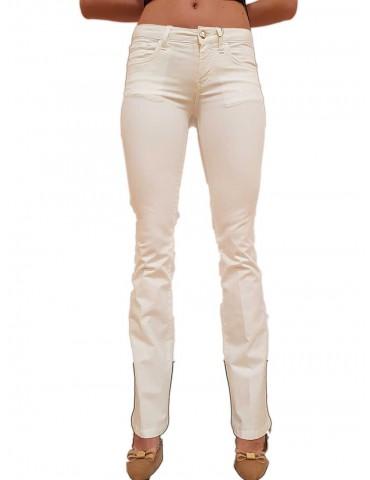 Fracomina pantalone Pamela 3 cotone bianco 5 tasche