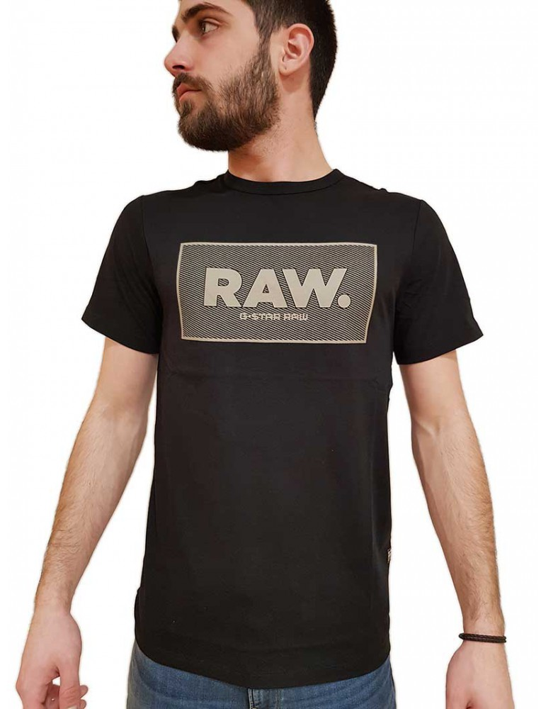 G Star Raw t shirt nera Boxed Gr d163753366484 G-Star Raw T SHIRT UOMO product_reduction_percent