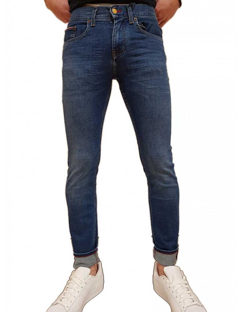 Jeans Tommy Hilfiger Layton extra slim pelion blue mw0mw125501ac TOMMY HILFIGER JEANS UOMO product_reduction_percent