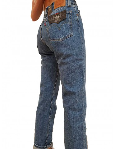 Jeans levi's 501 crop jive stone wash colorazione media