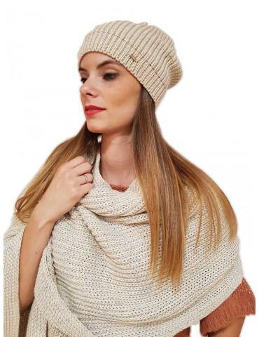 Gaudi berretto donna beige