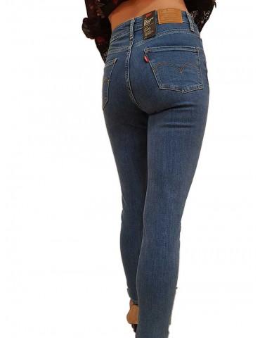 Levi's jeans 721 vita alta elasticizzato colorazione chiara