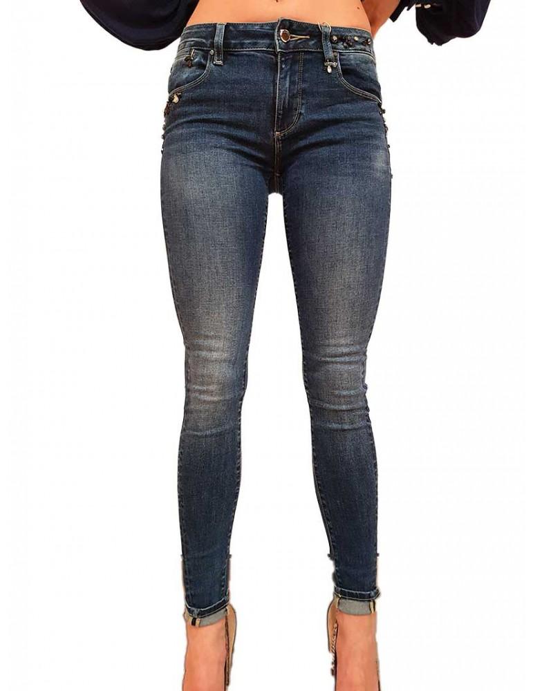 Fracomina jeans con strass Mary fr19fpjmary1b06 FRACOMINA JEANS DONNA product_reduction_percent