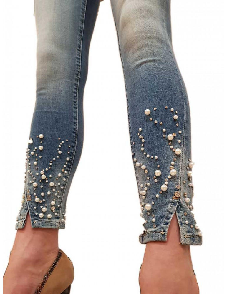 Fracomina jeans con applicazioni Betty5 fr19spjbetty5d34 FRACOMINA JEANS DONNA product_reduction_percent