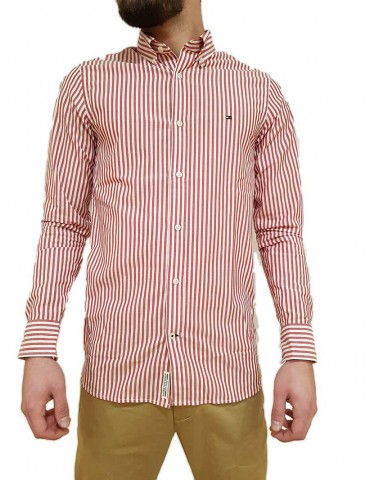 Camicia Tommy Hilfiger a righe rossa