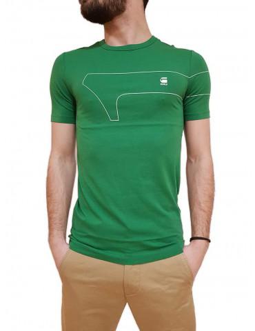 T shirt G-Star Raw One Gr verde slim