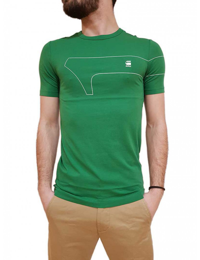 T shirt G-Star Raw One Gr verde slim d16043361520 G-Star Raw T SHIRT UOMO product_reduction_percent