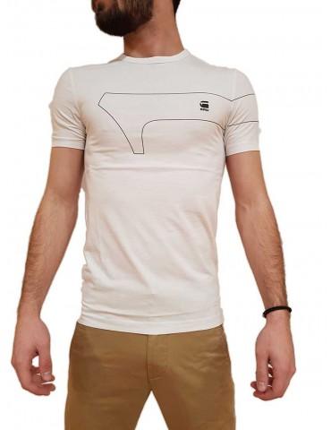 G-Star Raw t shirt slim One bianca