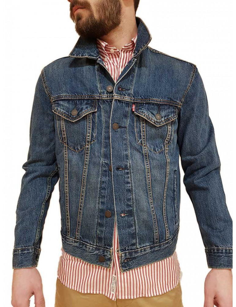 Giubbotto Levi's® trucker jacket mayze blu 723340354 Levi's® GIUBBOTTI E PIUMINI UOMO product_reduction_percent