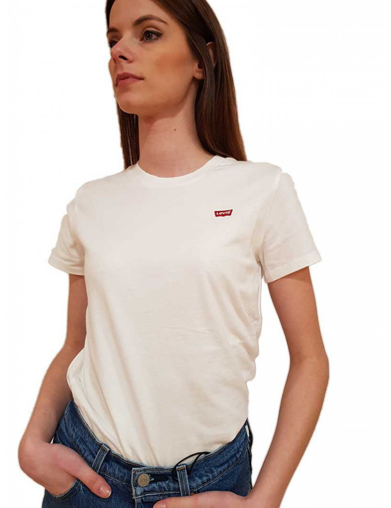 T shirt Levi's® bianca tinta unita the perfect tee 391850006 Levi's® T SHIRT DONNA product_reduction_percent