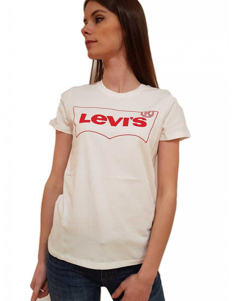 T shirt Levi's® bianca the perfect tee outline 173690771 Levi's® T SHIRT DONNA product_reduction_percent