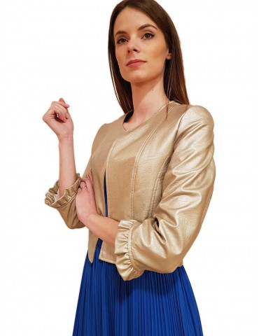 Gaudi jacket smeared in gold viscose