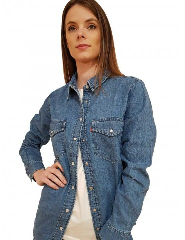 Levi's camicia jeans essential western going steady